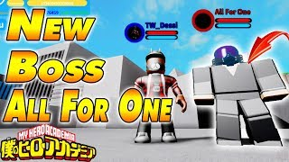NEW ALL FOR ONE BOSS & VILLAIN BASE | Boku No Roblox Remastered