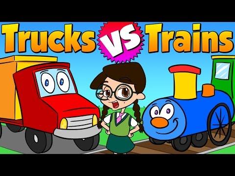 Trucks vs. Trains | Wiki for Kids at Cool School