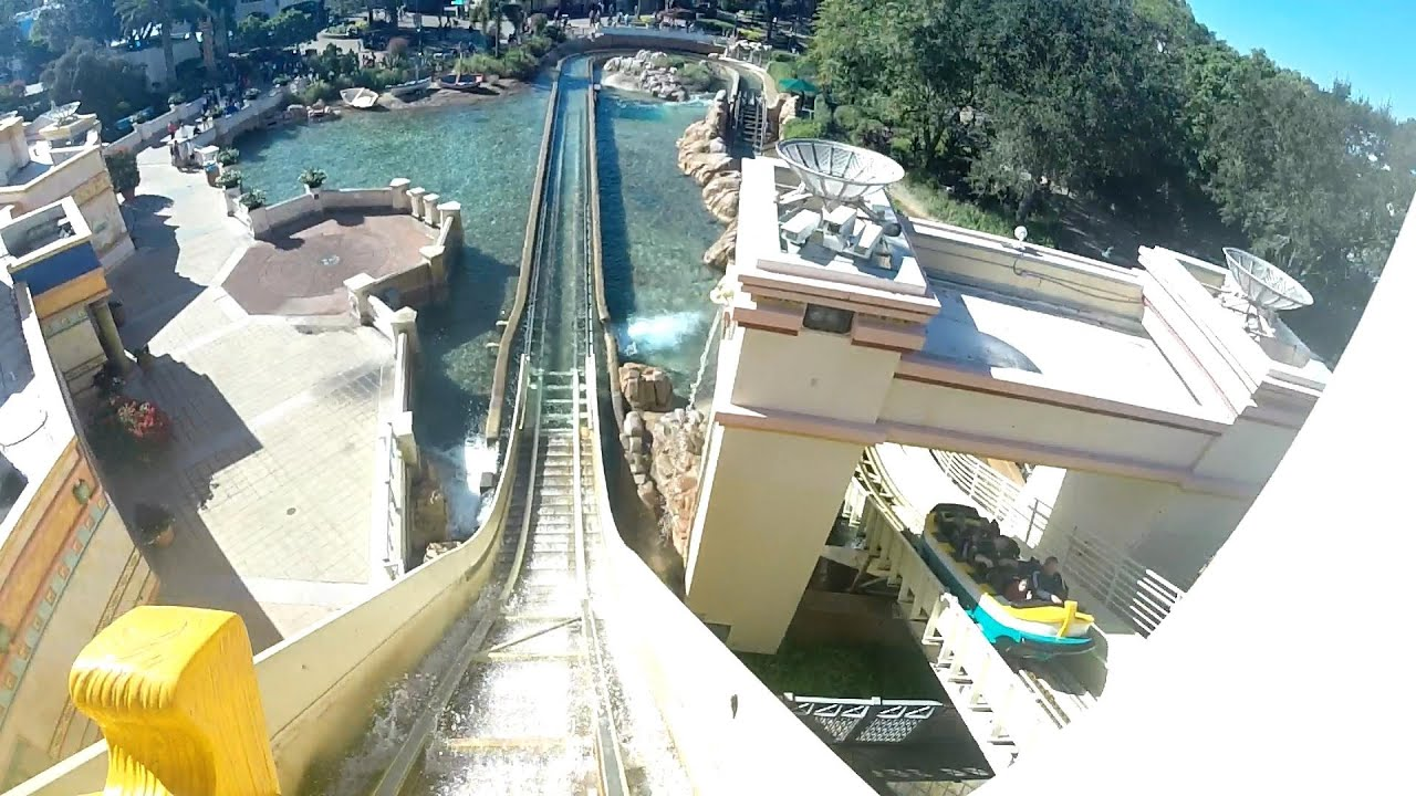 Front Row Journey To Atlantis Water Coaster Ride Seaworld