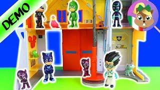 PJ Masks Deluxe set personaggi con 16 GIOCHI UNBOXING - pj masks italiano