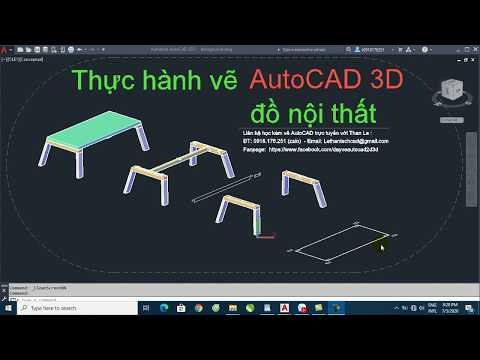 Vẽ AutoCAD 3D đồ nội thất - How to draw 3D furniture in AutoCAD