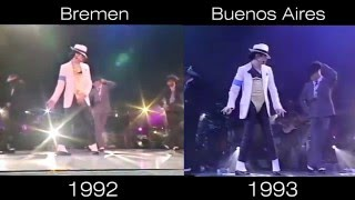 Michael Jackson - Smooth Criminal Live In Bremen 92 vs Buenos Aires 93