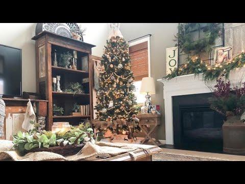 Antique + Thrifty Christmas Home Tour 2019 | Cozy Christmas Home Decor Tour | Decorate on a Dime