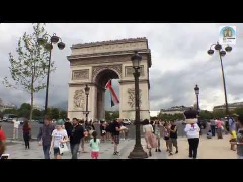 파리 개선문과 샹젤리제거리
