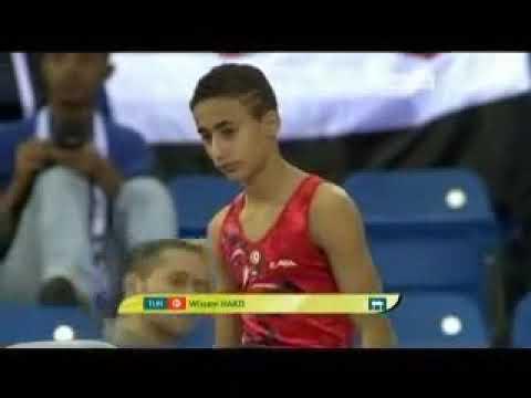 Arab Games in Qatar 2011 gymnastics pommel horse   YouTube