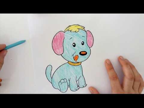 çocuklar Için Kuru Boya çizim şarki Söyleyen Köpek çizimi Aşik Mugsy