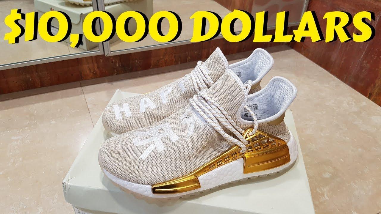 gold human race nmd