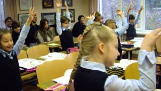 Урок математики в первом классе. Частная школа