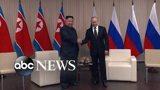 Kim Jong Un, Vladimir Putin hold first summit