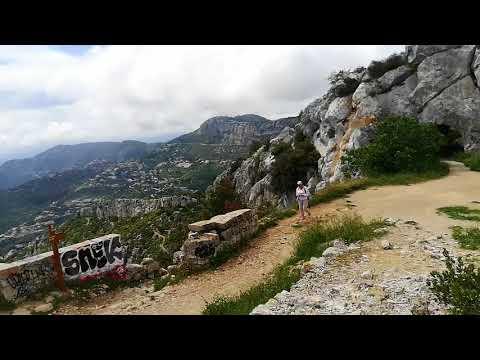 Panorama sur Monaco et Nice rocher de la Turbie