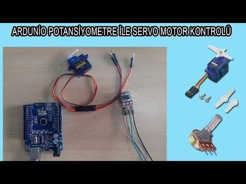 Arduino potansiyometre ile servo motor kontrolü nasıl yapılır