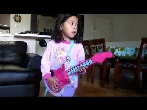 My Princess PopStar Playing With Her Barbie Guitar