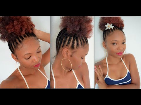 Cute Bun for SUMMER & How to braid the Back