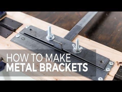 How to make metal shelf brackets with a lip
