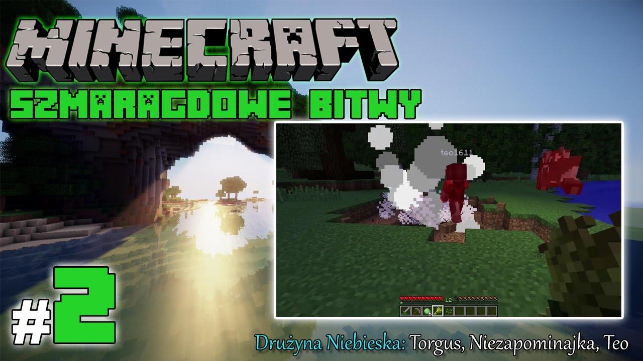 """Minecraft: Szmaragdowe Bitwy [Drużyna Niebieska] odc. 2 – """"Do dziurki!"""""""