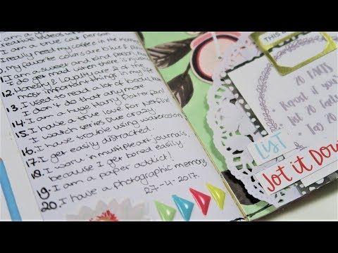 TN Process ~ Creative Journaling ~ 20 facts about me