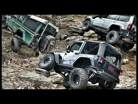 Hard Lines 4x4 Rock Crawl In Our Daily Drives - Jeep vs Nissan vs Toyota vs Land Rover
