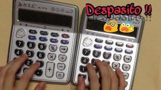 شاب مُحترف يعزف اغنيه ديسباسيتو ( despasito ) علي الآله الحاسبه • مُدهش