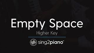 Empty Space (Higher Key - Piano Karaoke Instrumental) James Arthur Video