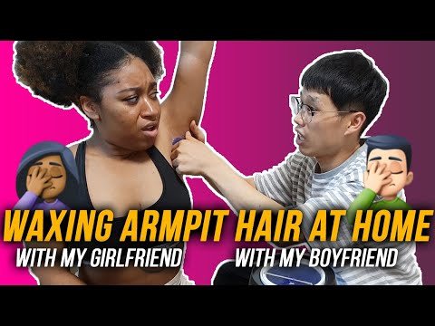Waxing Armpit Hair At Home With My Girlfriend [Kor CC]