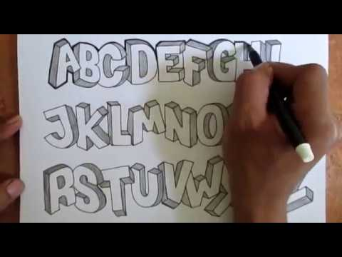 Tutorial Membuat Font 3d Alfabet A Z Full
