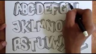 Download Video Tutorial membuat font 3D Alfabet a z full MP3 3GP MP4