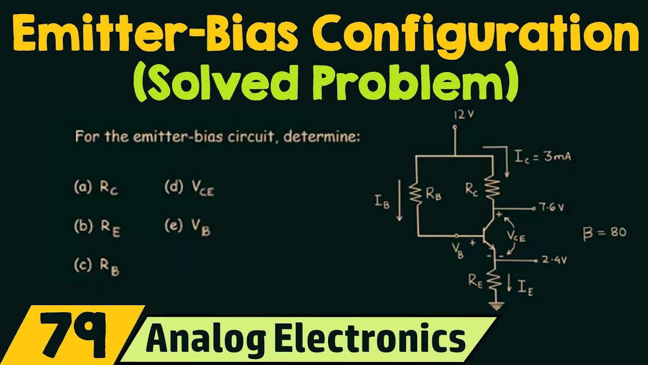 Emitter Bias Configuration Solved Problem Youtube Circuit 4 Bipolar Stabilizes Power This Solves