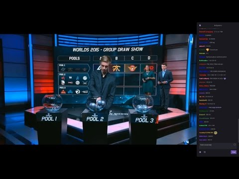 9/12/2015: LoL Worlds 2015 | Group Draw Show [with Chat]