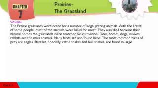 Explore Social,Class 05 ,07 Prairies - The Grassland