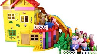 Peppa Pig Blocks Mega House Building Playset With Masha And The Bear LEGO Creations Toys Sets #5