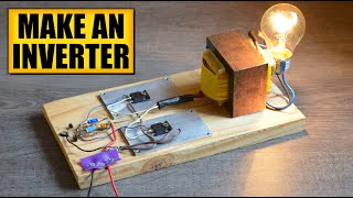Repeat youtube video Make an inverter : DIY Experiments [#2] Power AC devices with a battery / Simple inverter DIY