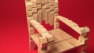 Make A Stylish Mini Clothespins Chair - Diy Crafts - Guidecentral