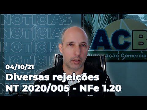 Rejeições recentes da NFe, novidades NCM, IBPT, Sped e NFSe. Agenda de podcasts da semana