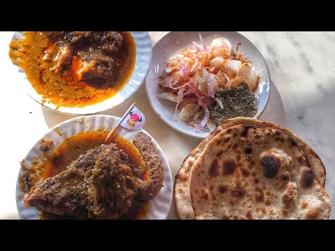 Dahi meat, chicken curry & Kebab at New National Restaurant,