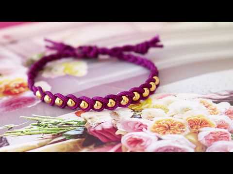 Handmade jewellery: Macramé braid & bead ♡ DIY