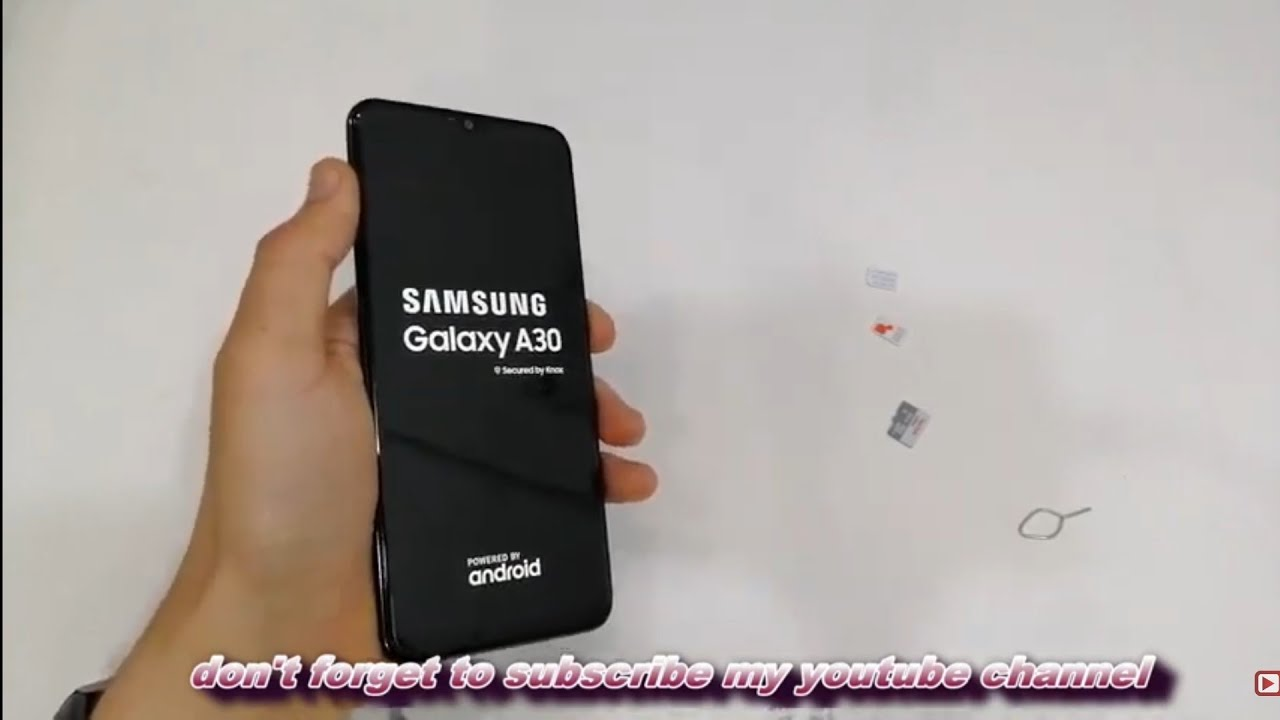 Samsung A30 2019 First Setup Active Insert nano Sim and Sd card SM-A305F - Gsm Guide