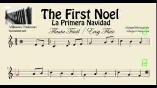 La Primera Navidad Partitura de Flauta Fácil Dulce y de Pico The First Noel