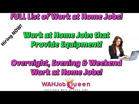 FULL LIST OF WORK AT HOME JOBS! (2019)