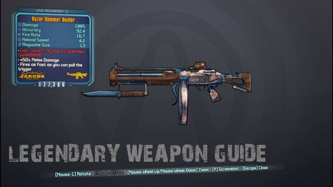 Borderlands 2 - The Hammer Buster Legendary Assualt Rifle Drop