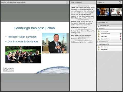 MBA programme webinar Edinburgh Business School