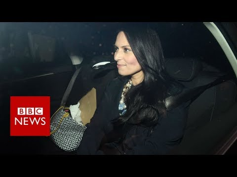 Priti Patel leaves Downing Street back entrance - BBC News