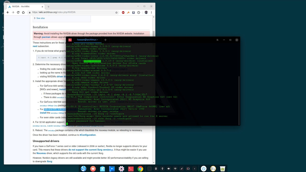 how to install nvidia drivers on arch linux (Arabic)