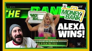 REACTION   ALEXA BLISS WINS WWE MONEY IN THE BANK 2018   ALLSTATE ARENA, CHICAGO