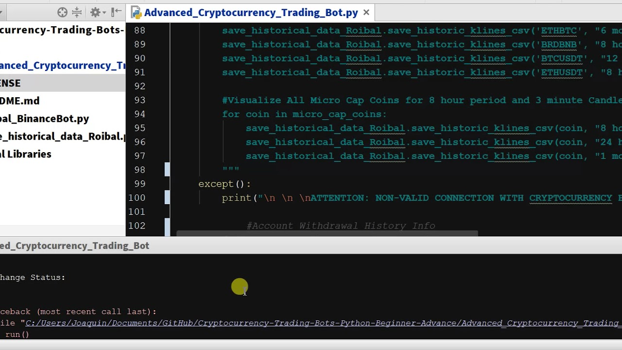 Chapter 5 5 - Advanced Cryptocurrency Trading Bot - Installing CCXT