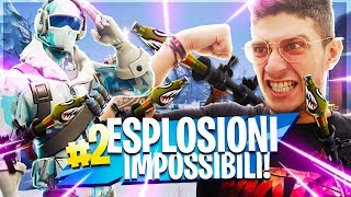 A ROCKET PIERCES MY CONSTRUCTION!! SKIN ARTICA IN RESORATED - fortnite