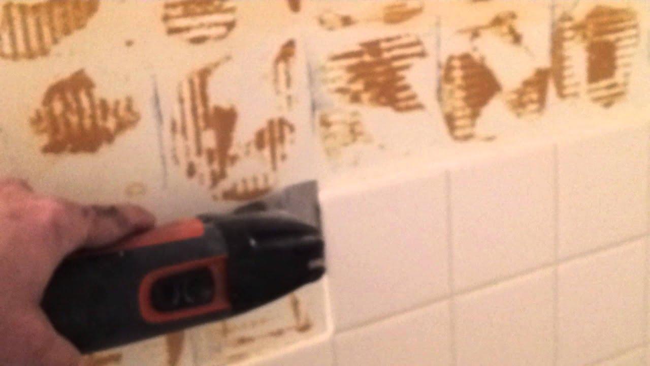 Your Handyman Removing ceramic tile - YouTube