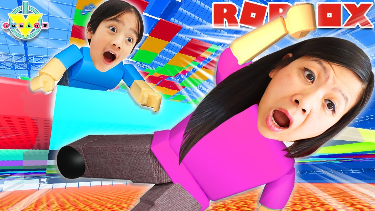 Land on the right COLOR! Let's Play Color Blocks with Ryan & Mommy