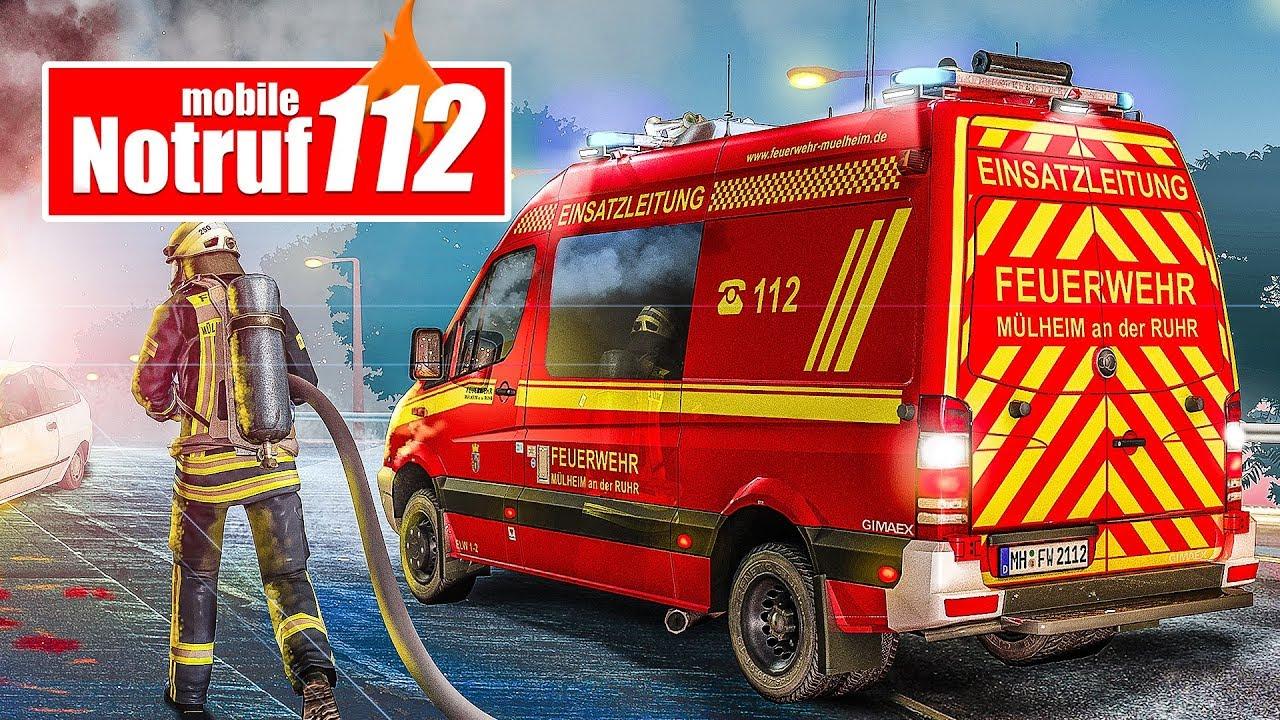 NOTRUF 112 APP #2: Autounfall und Baumsägeeinsatz! | Feuerwehr ...