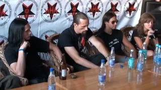 Press conference Gorgoroth - MHM fest 2008 vol. 1