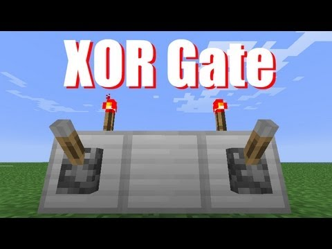Alavancas independentes xor gate minecraft tutorial for Puerta xor minecraft